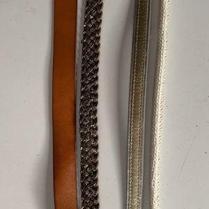 Set of 4 J. Crew Belts
